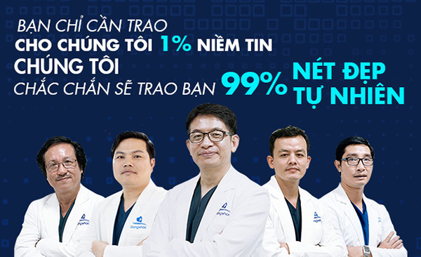 Đội ngũ bác sĩ giàu kinh nghiệm, được tu nghiệp tại Hàn Quốc, Mỹ,... Có hơn 15 năm kinh nghiệm trong lĩnh vực phẫu thuật thẩm mỹ